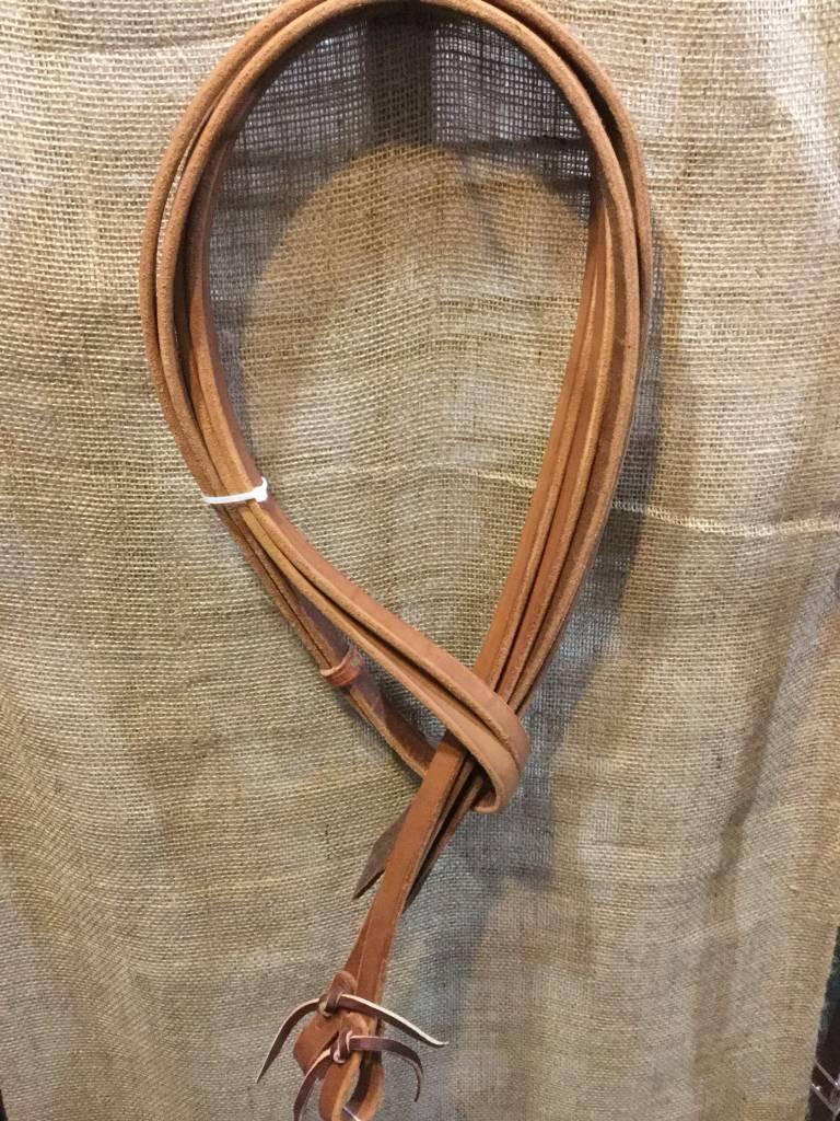 "Circle L Circle L Split Leather Reins, Tie Ends, M.Oil - 8' x 3/4"""