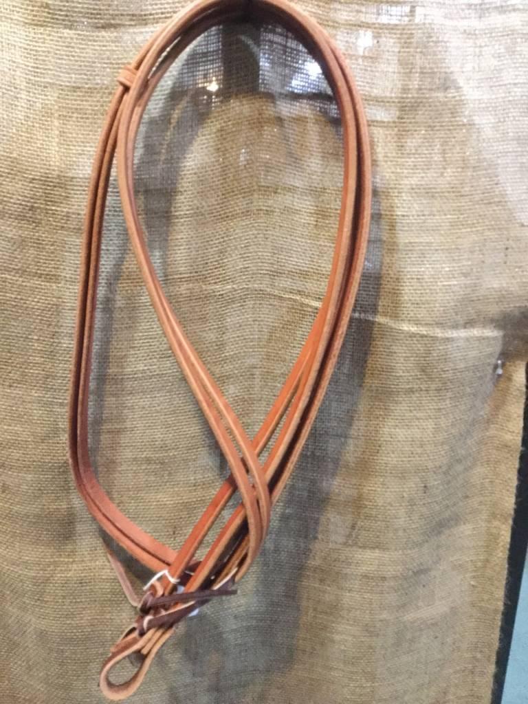 "Circle L Circle L Split Leather Reins, Tie Ends, M.Oil, U.S.A. - 5/8""x7'"