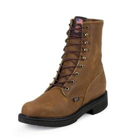 Justin Work Boots Men's Justin Aged Bark Steel Toe Work Boots