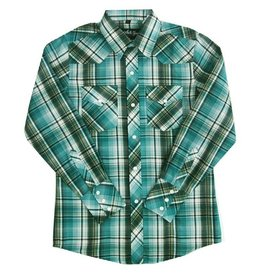 White Horse Apparel Children's White Horse Plaid Western Shirt (65/35)