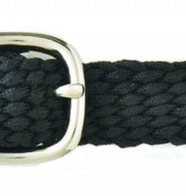 Braided Nylon Spur Strap Black