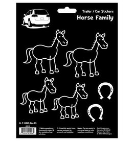 GT Reid Car Stickers- Stick Horses Family