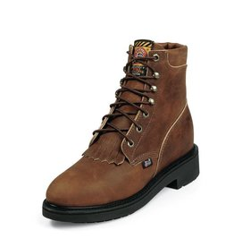 """Justin Work Boots 6"""" Aged Bark Steel Toe Boots Aged Bark"""