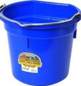 20 QT Plastic Flatback Bucket Blue