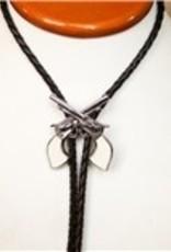Rockmount Ranch Wear Bolo Tie - Silver Guns