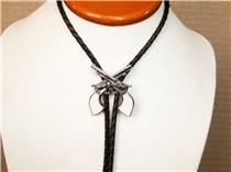Rockmount Bolo Tie - Silver Guns