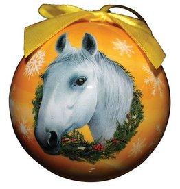 GT Reid Ball Ornament- White Horse Orange