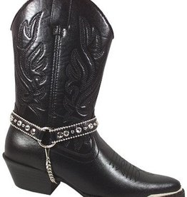 Smoky Mt Boots Women's Smoky Mt Charlotte Boot w/Ankle Chain - Black
