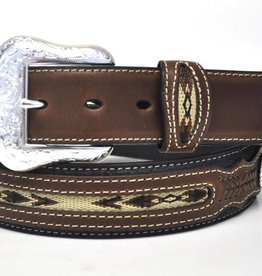 M & F Western Products Adult - Nocona Belt w/ Fabric Center