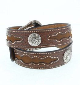 M & F Western Products Adult - Diamond Overlay Concho Belt