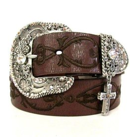 M & F Western Products Adult - Nocona Embroidered Cross Belt