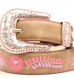 M & F Western Products Children's Nocona Embroidered Floral Belt