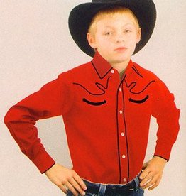 Western Express Children's Western Shirt - Red Retro