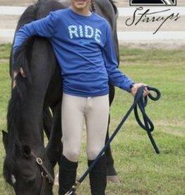 "Stirrups Stirrups ""RIDE"" Long Sleeve T-Shirt"