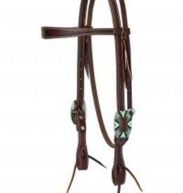 Weaver Leather Company Weaver Working Cowboy Slim Browband Headstall - Rope Edge