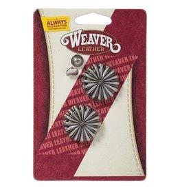 "Weaver 1"" Antique Nickle Pinwheel Concho"