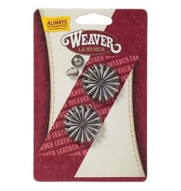 """Weaver Leather Company 1"""" Antique Nickle Pinwheel Concho"""
