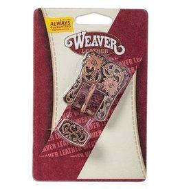 "Weaver 3/4"" Antique Copper Floral Heel Buckle"