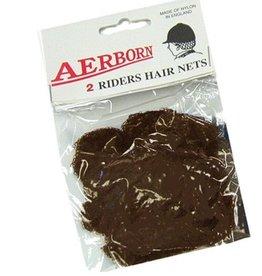 Intrepid International Aerborn Hairnets dark brown 2pk