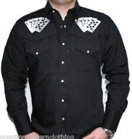 White Horse Apparel Men's White Horse Embroidered Royal Flush Shirt