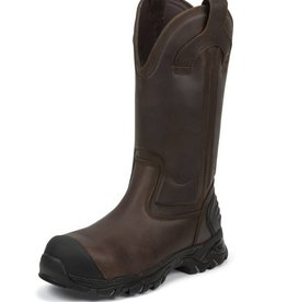 Justin Work Boots Men's Justin Full Joist Brown Waterproof, Comp Toe Boot - $195.95 @ 25% OFF!