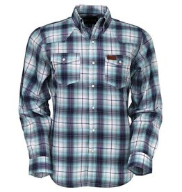 Outback Trading Company LTD Men's Outback Murphy Plaid Blue Shirt - $44.95 @ 40% off $26.97