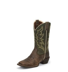 Justin Boots Men's Justin Waxy Brown Western Boots
