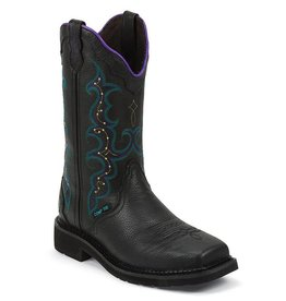 Justin Work Boots Women's Stampede Composite Toe Black