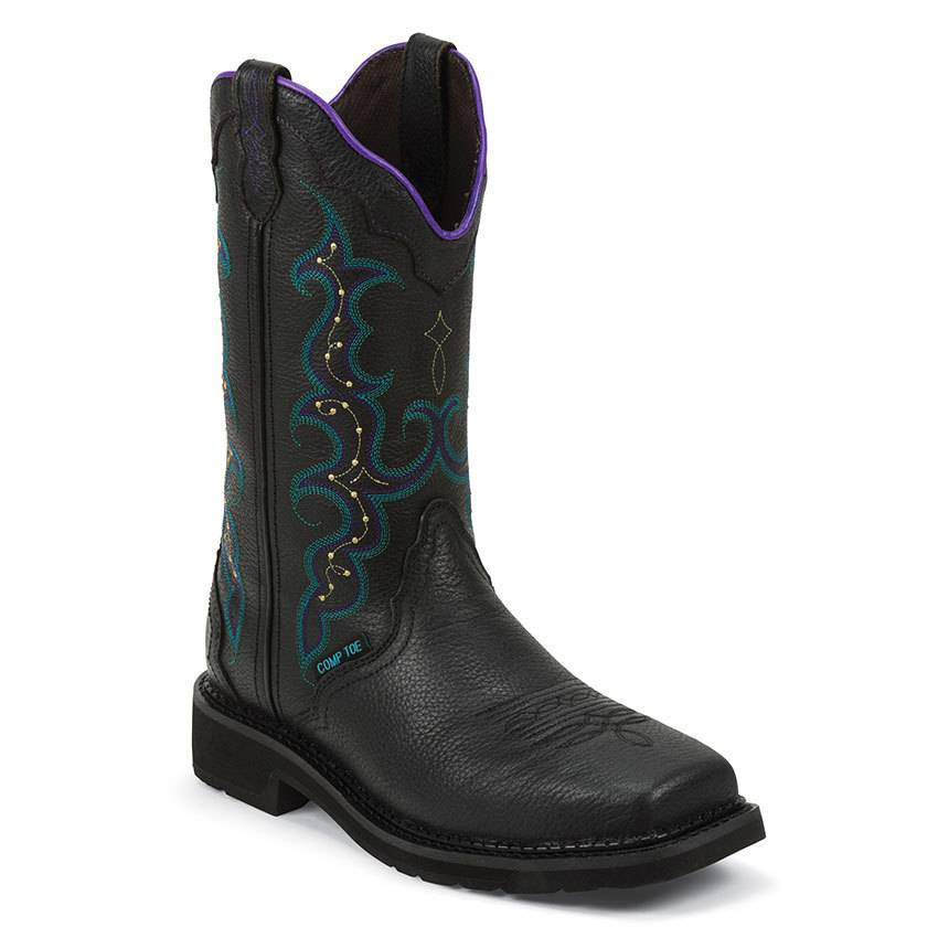 Women S Stampede Composite Toe Black Gass Horse Supply