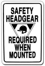 Arrent Enterprises, LLC Sign: Safety Headgear Required WS