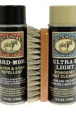 Bickmore Bickmore Light Hat Care Kit, Contains: Gard-More Water Repellent, Ultra-X Light Cleaner & Soft Light Bristled Hat Brush