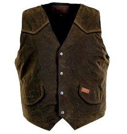 Outback Men's Cliffdweller Oilskin Vest w/Fleece Lining - Bronze