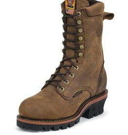 Justin Work Boots Men's Justin Casement Aged Bark Waterproof Steel Toe Workboot - Reg $269.95 @ $10 OFF!