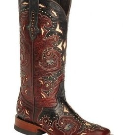 Lucchese Bootmaker Women's Lucchese Fiona Red & Grey 8.5C (Reg $429 NOW $150 OFF)