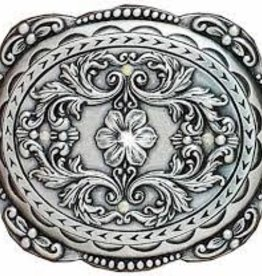 M & F Western Products Oval Edged Floral Buckle