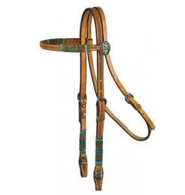 Circle Y of Yoakum Browband Headstall - Rawhide Rawhide Full