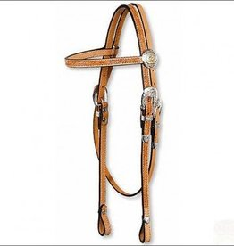 Circle Y Floral Browband Headstall Reg Oil Horse