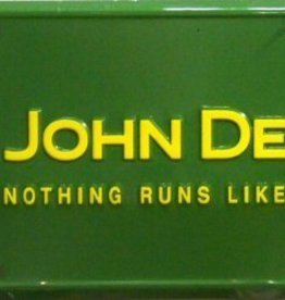 Western Fashion Accessories License Plate - John Deere - Nothing Runs Like A Deere