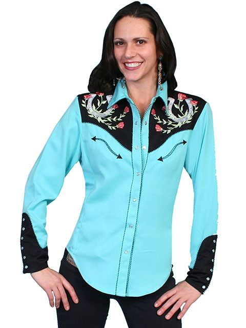 Scully Sportswear, INC Women's Scully Horseshoe Embroidered Shirt ...