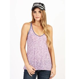 Women's Adiktd Heathered Jersey Tank Purple, Large - SALE $15