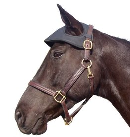 Intrepid International Easy Care Neoprene Head Bumper, Black - Horse