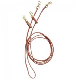 Tough1 Leather Pully Draw Reins leather