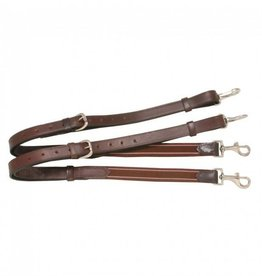 JT International Leather Side Reins With Elastic dark
