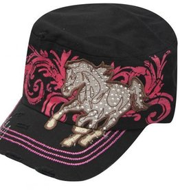 Junior Cadet Hat w/ Running Horse Patch