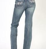 Adiktd Queen of Diamonds Jeans Med. Stone