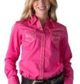 Women's Adiktd Solid Snap Pink Shirt XXL - $66 @ 40% Off $39.60
