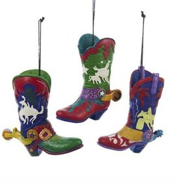 """Cowboy Boot Hanging Ornaments - 3"""" x 4"""""""