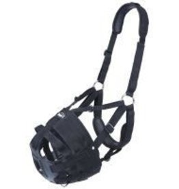 JT International Deluxe Easy Breathe Poly/Nylon V Grazing Muzzle - Horse