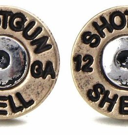WEX Earrings - Bronze/Silver Shell