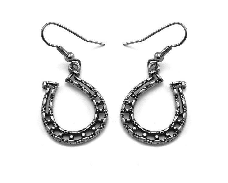 Wex Earrings Silver Horseshoe